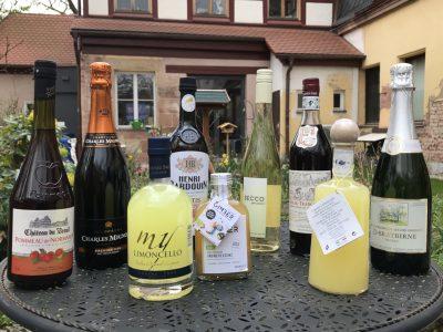 Ünerblick über verschiedene Angebote an Alcoholica von Feinkost Langer