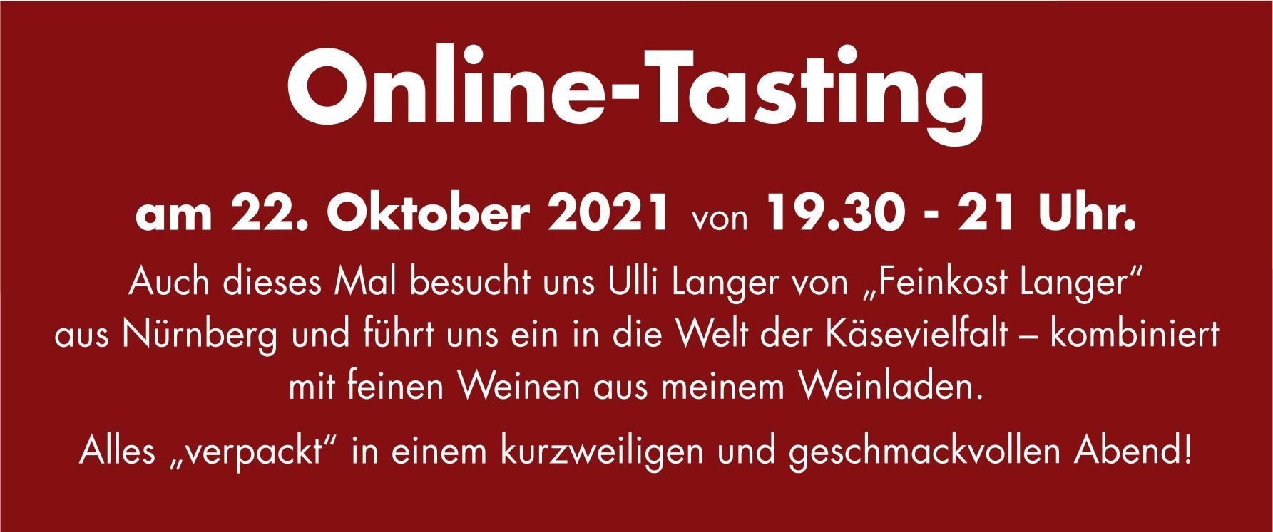 Einladung zum Käse und Wein-Online-Seminar am 22. Oktober